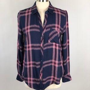 Rails Tops - Rails Hunter Plaid Shirt Cranberry Melange EUC S